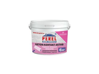 Бетон-контакт с антисептиком и визуальным индикатором Perel Rof, розовый 18 л